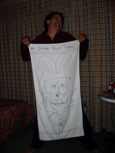 just can't get enough of that sarah palin towel