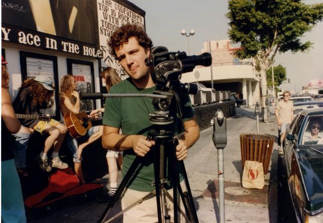 David Markey with Redd Kross, filming