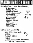 Tim Yohannon's Maximum Rock n roll nights @ The On Broadway 1983