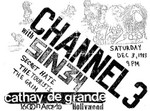 Channel 3, Sin 34, Secret Hate, The Touristsm & The Grim - December 3 1983