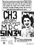 CH3, Angry Samoans, MDC, & Sin 34 - March 11 1982
