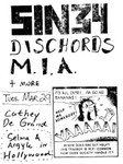 Sin 34, The Dischords, & M.I.A. - March 29 1983