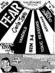 Fear, Circle Jerks, The Vandals, Sin 34, Toxic Reasons, The Afflicted, & House Of Commons - February 24, 1984