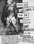 Chron Gen, Vice Squad, Sin 34, & The Dischords - August 14, 1982