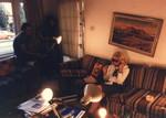 Shooting in Mary Markey's apartment, Santa Monica 1985