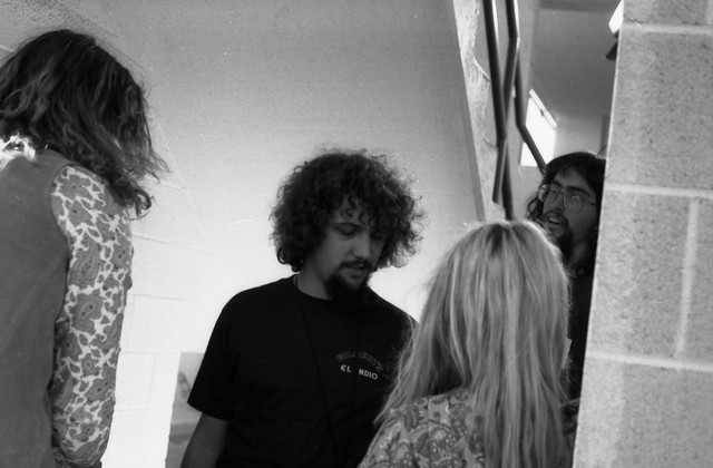Dave Markey (center) directs Kim Gordon in