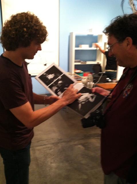 Off's Dimitri Coats signs Jordan's book
