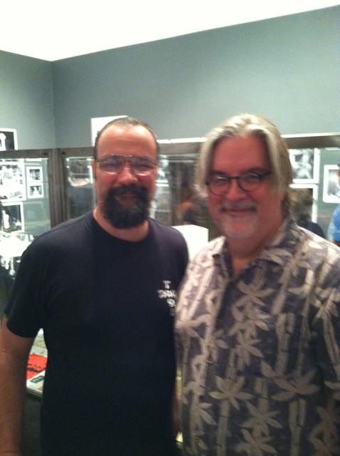 David Markey with Matt Groening. Matt first wrote about We Got Power 'zine in 1983!
